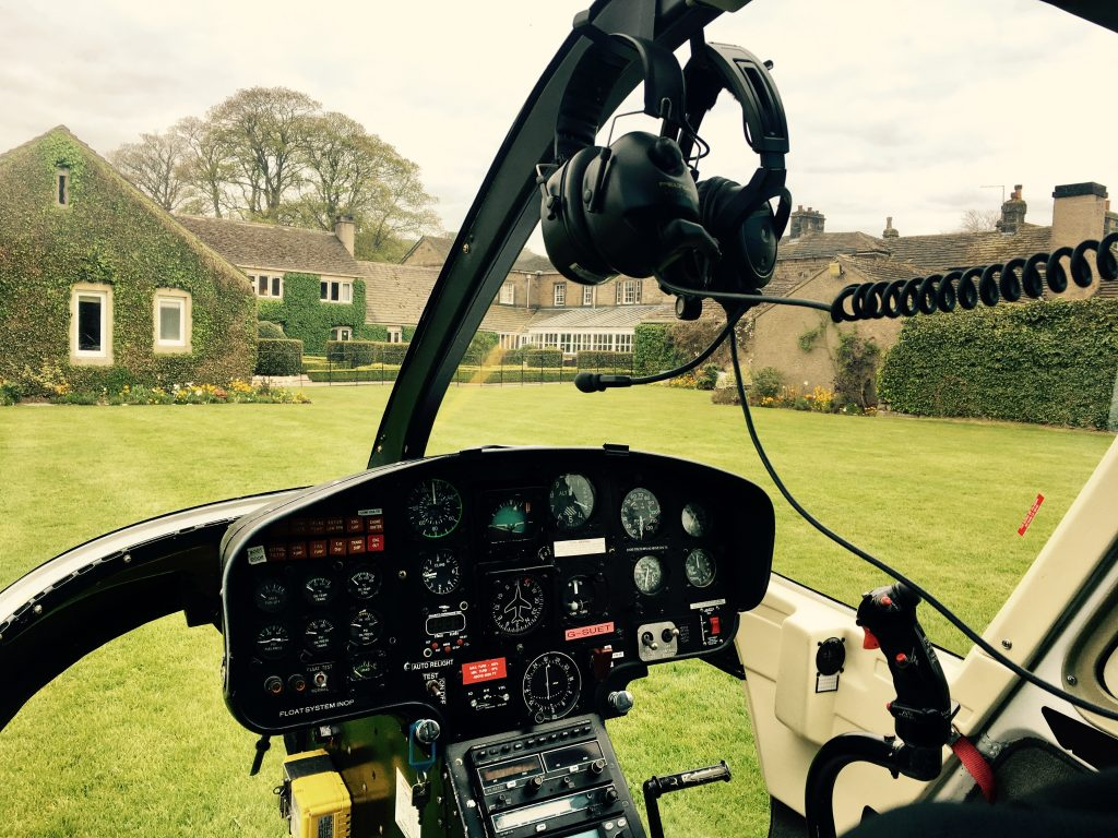 Pilot Training Helicopter Devonshire Arms Yorkshire