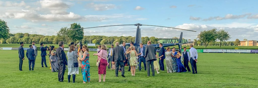 Helicopter wedding flights in Yorkshire and the north of England